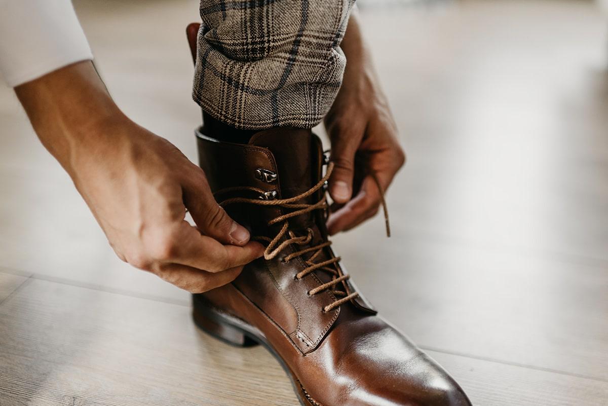 schoenen bruidegom