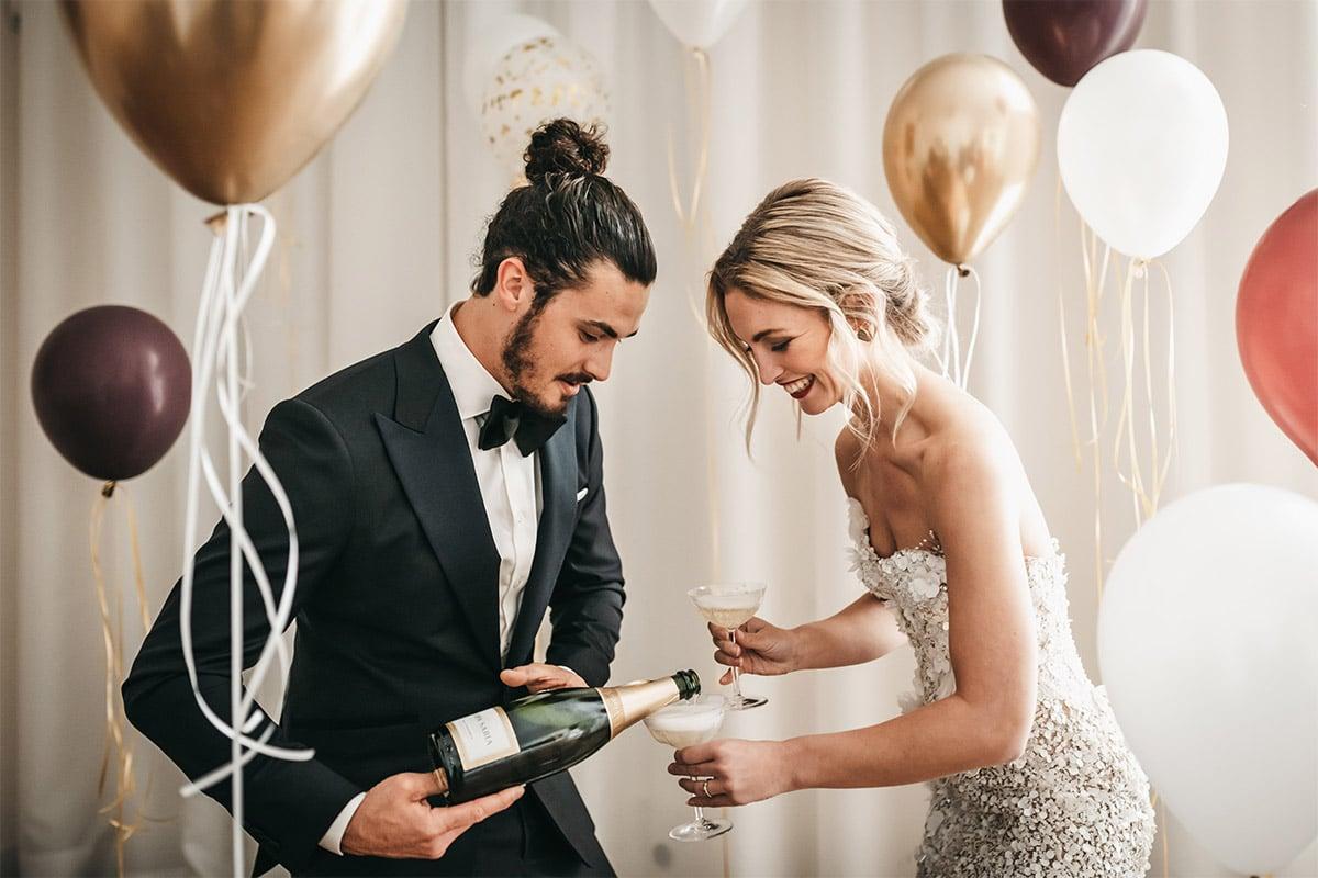 moderne bruiloft ballonnen