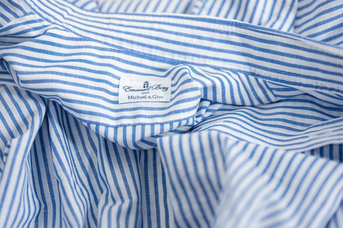 zakelijk overhemd wit blauw streepjes