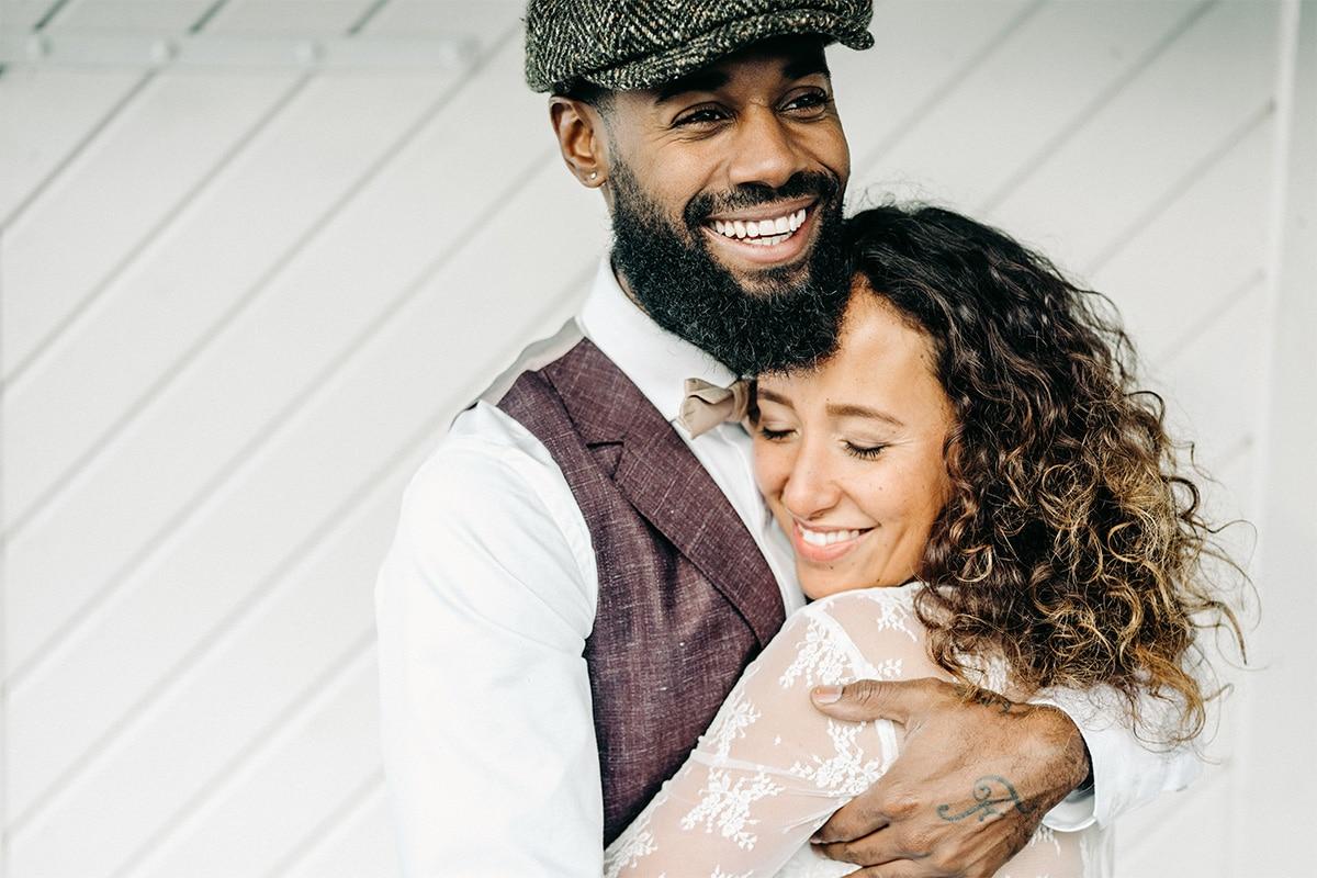 Tweedelig trouwpak met vest