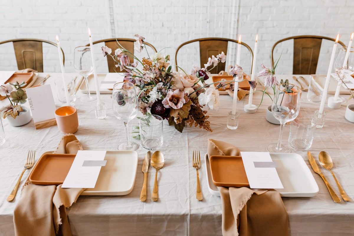Rosé tint opmaak bruiloft