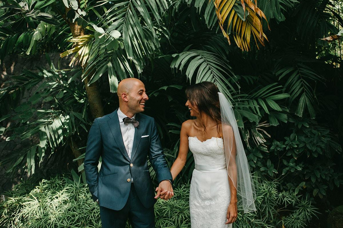 Groen bohemian trouwpak, Buitenland bruiloft, groen thema bruiloft
