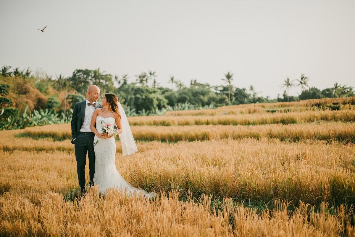 Huwelijk in de natuur, Boho bruidspaar