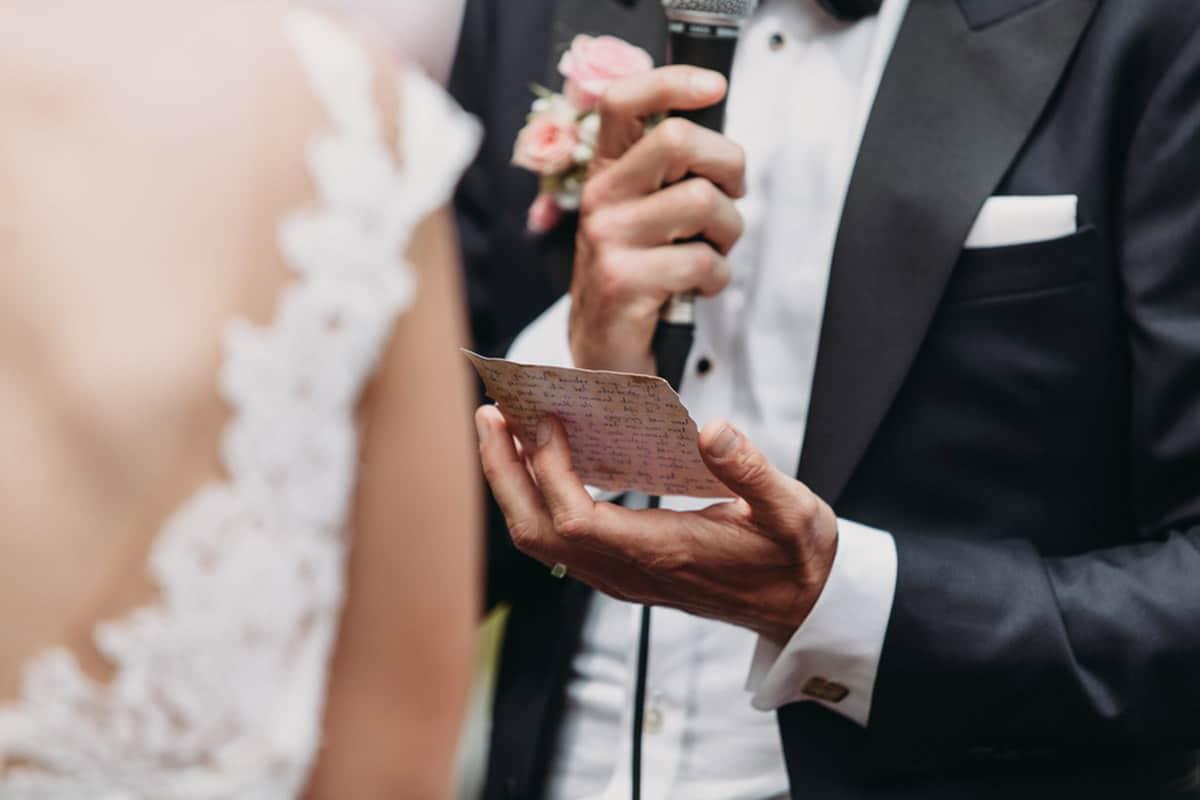 huwelijks speech