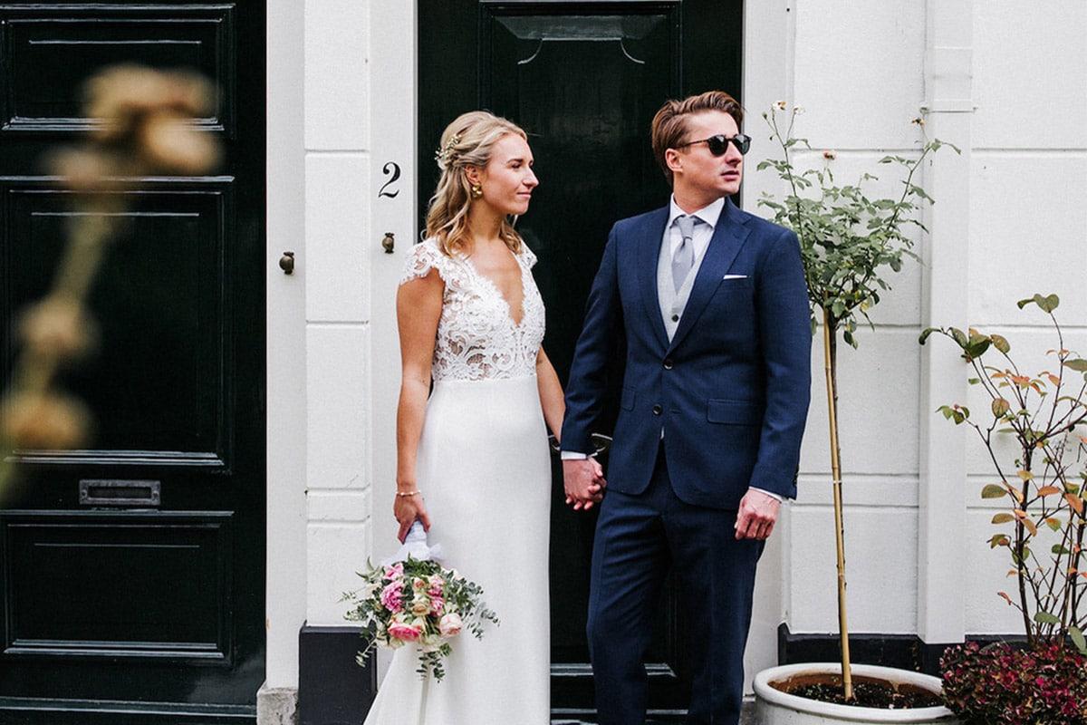 Cool bruidspaar
