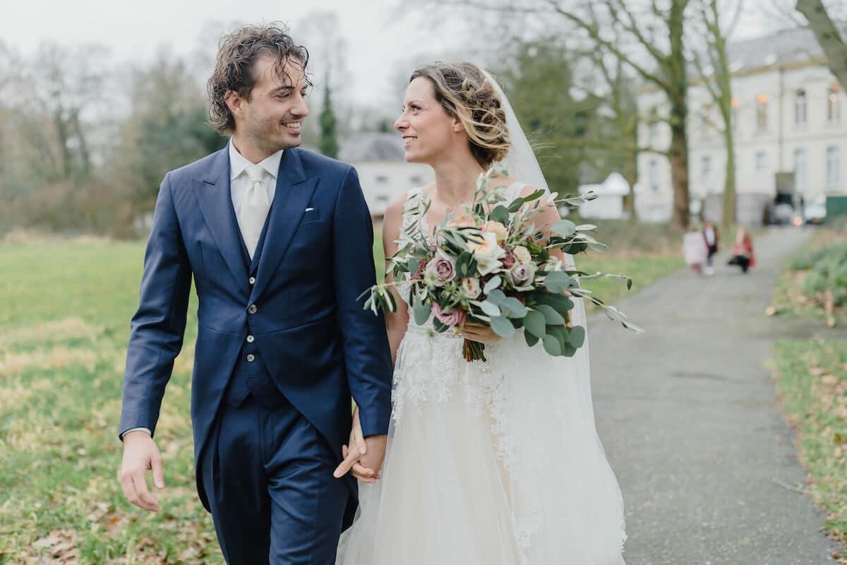 Jacquet bruiloft, Koningsblauw Jacquet