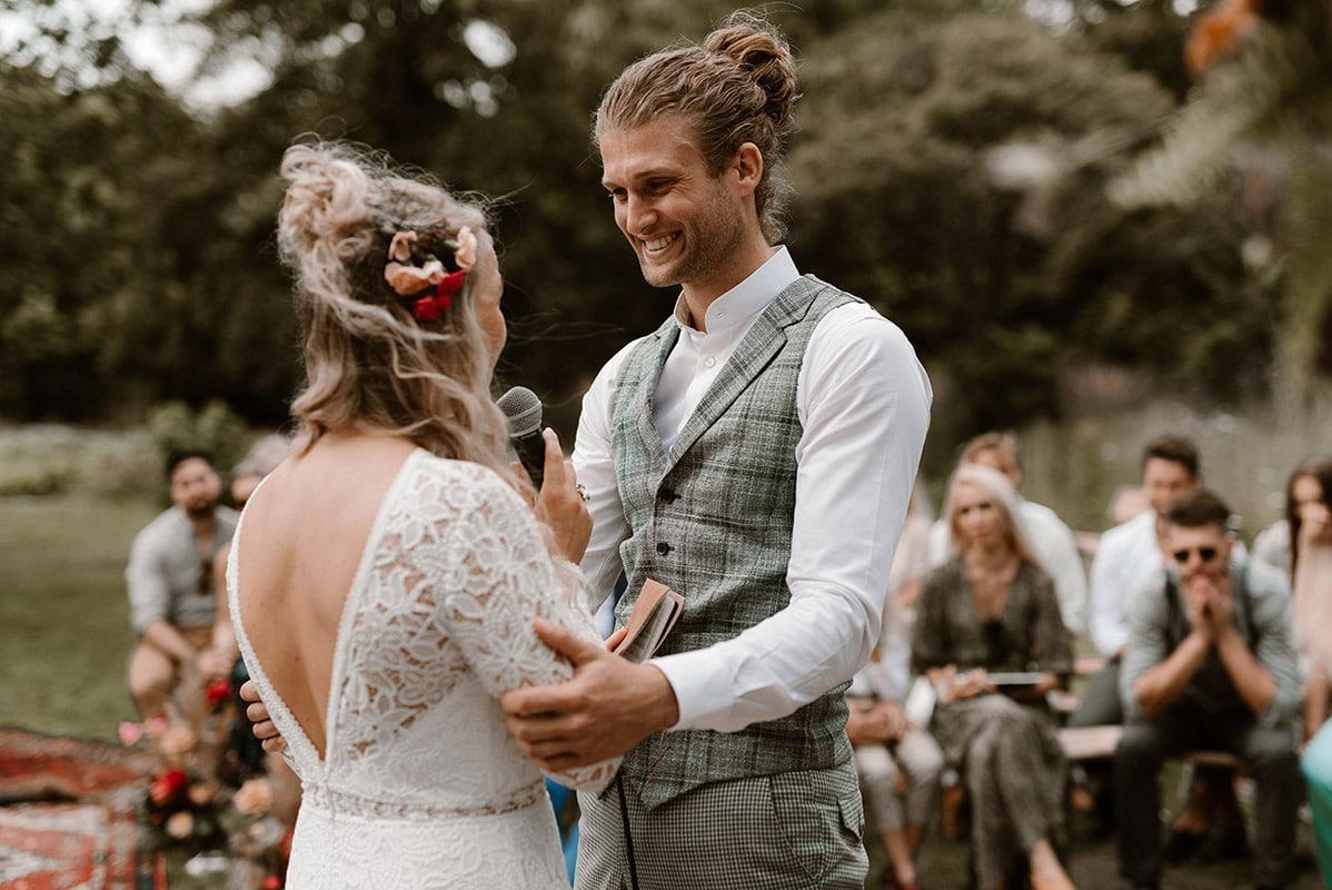 Speech bohemian stijl trouwen