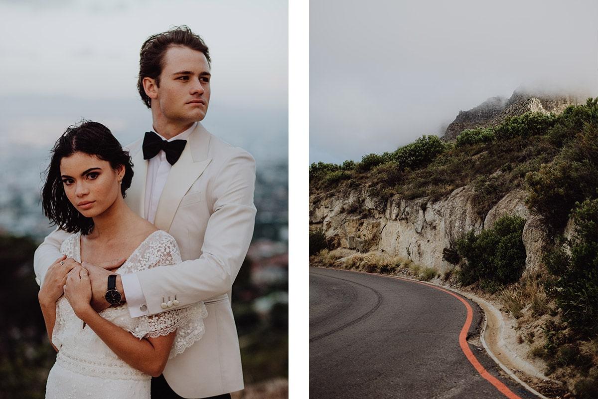 Bruidspaar in de bergen