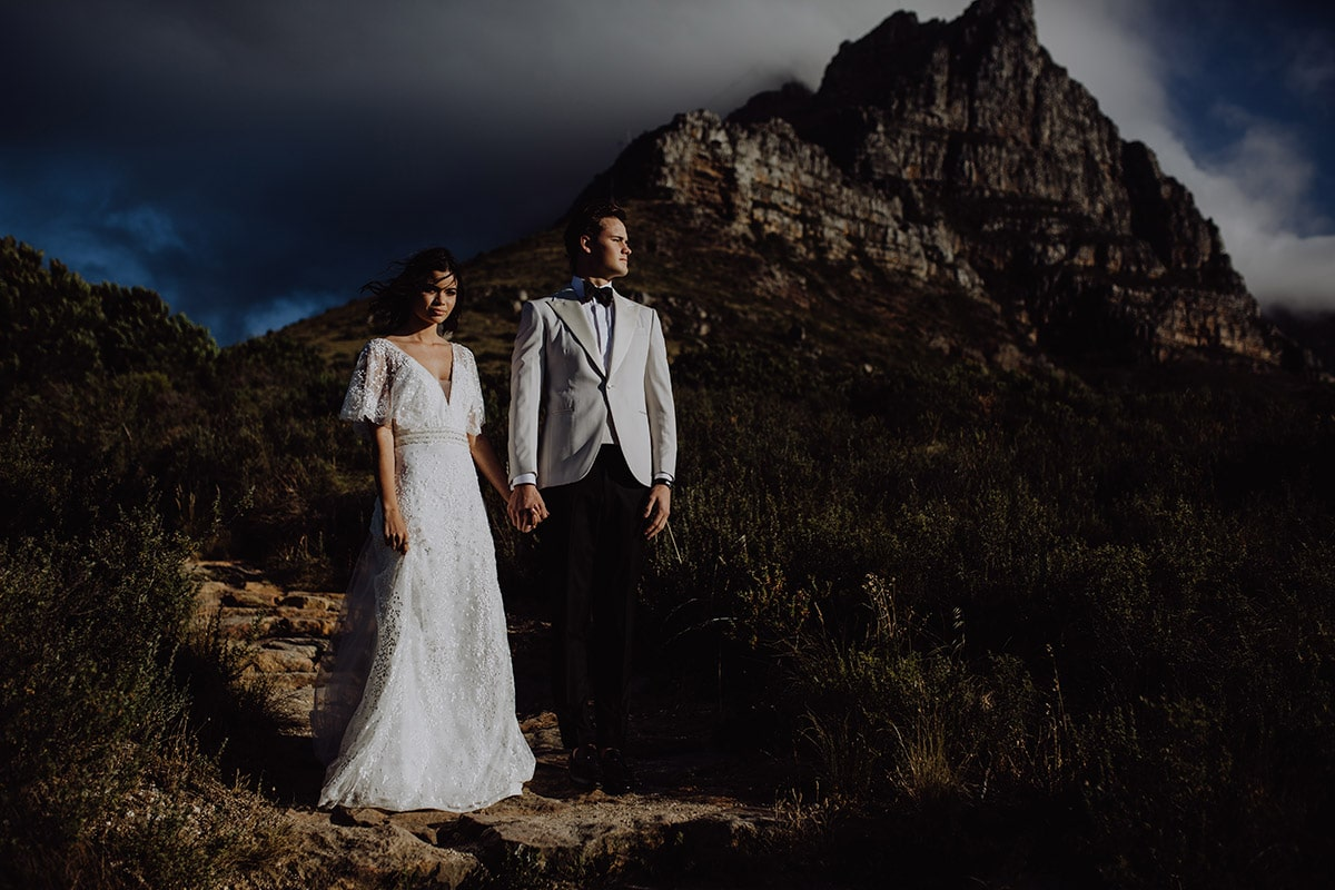 Klassieke berg bruiloft