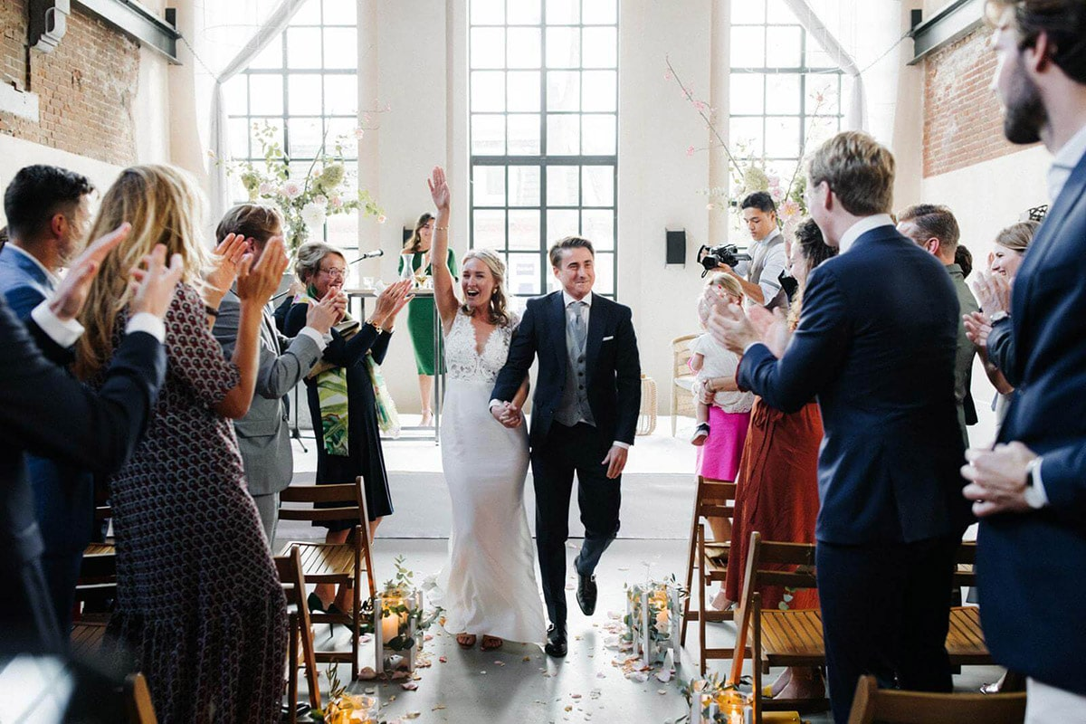 Euforie na de huwelijksvoltrekking