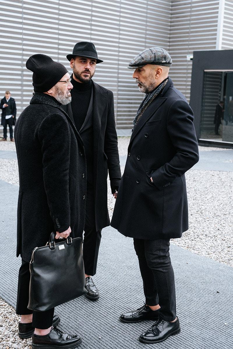 pitti menswear zwart