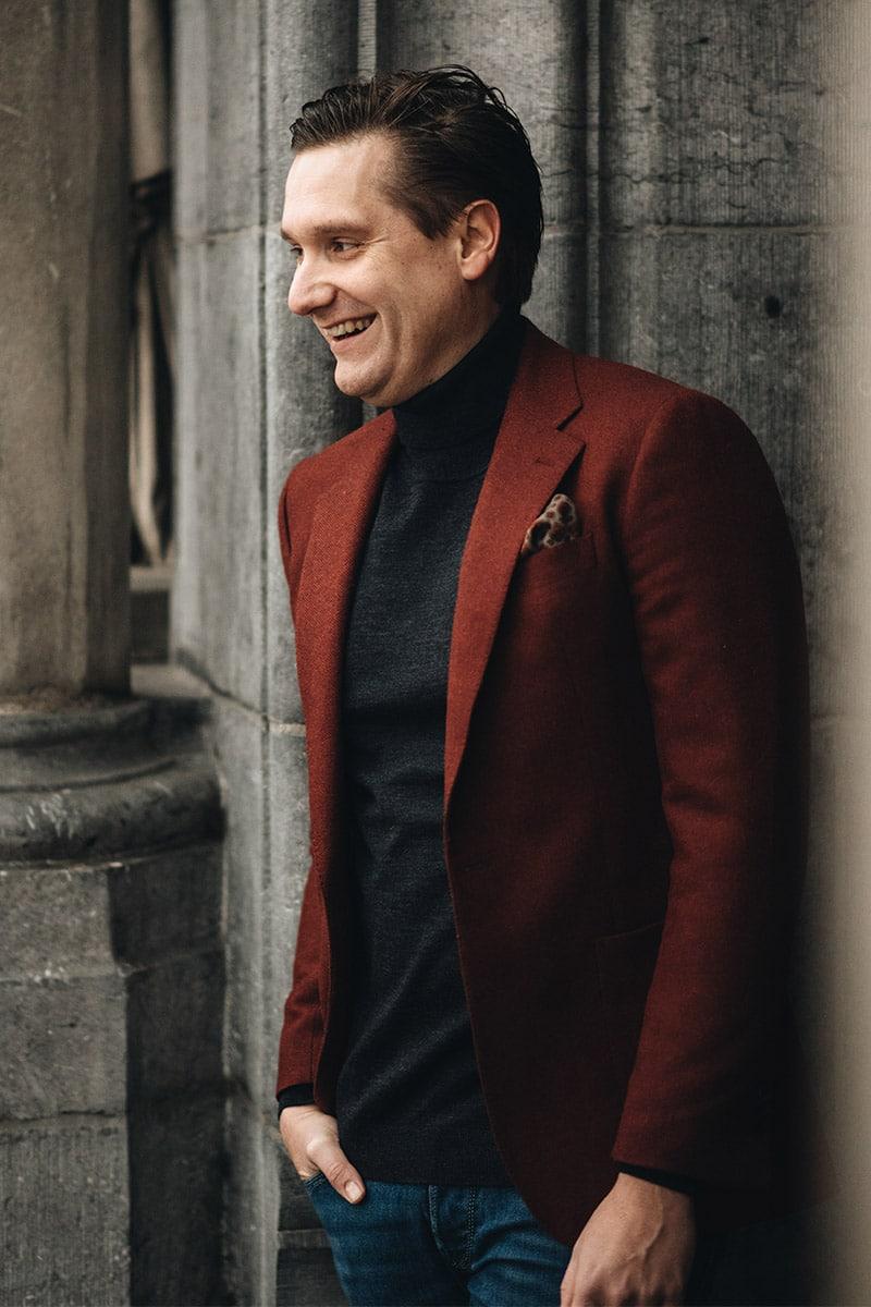 Rood winter jasje op maat