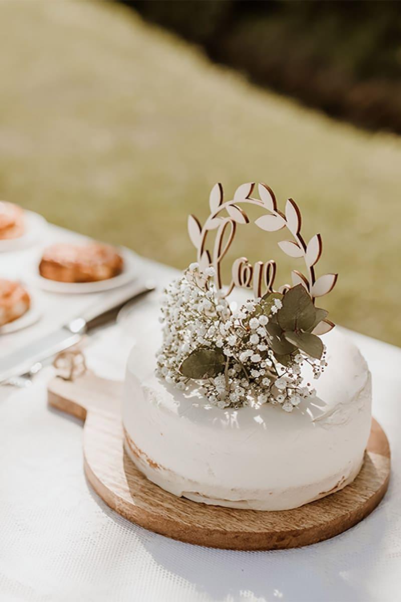 Slagroom taart met liefde