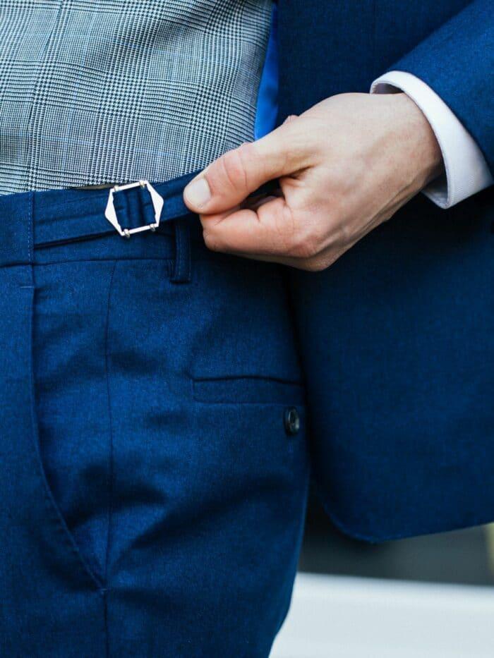 pantalon zijtrekkers elopement blauw