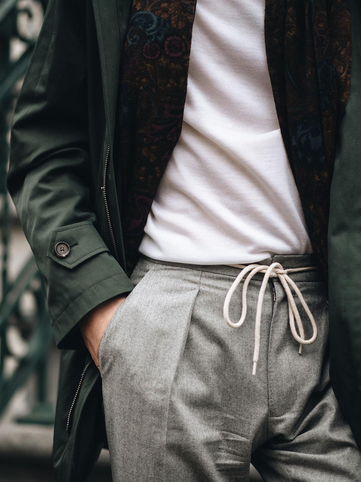 smart casual broek met touwtjes