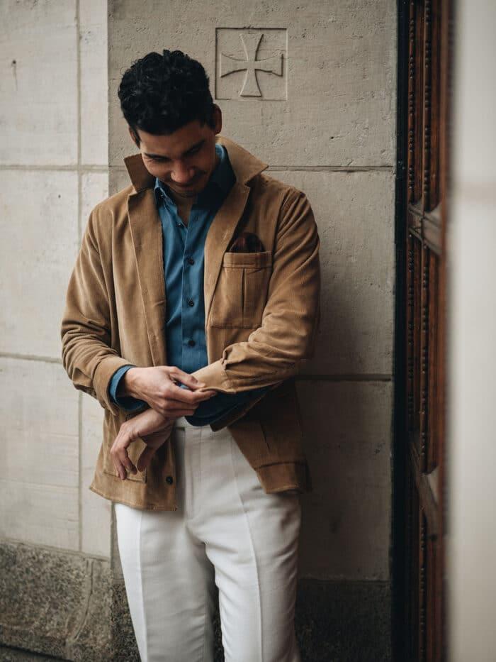 overshirt bruin lugano