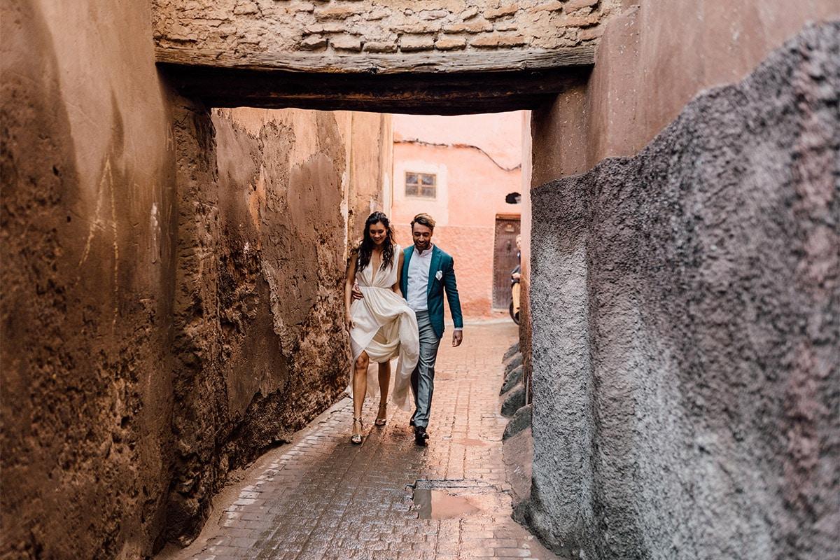 Marokko-marrakech-huwelijk-straat-trouwen