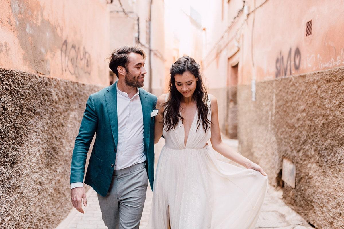 Marokko-marrakech-huwelijk-straat