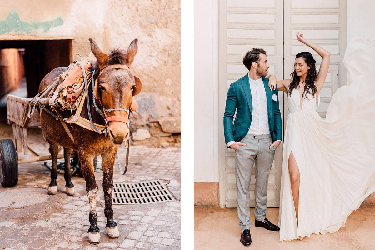 Marokko-trouwdag-trouwjurk-marrakech-ezel