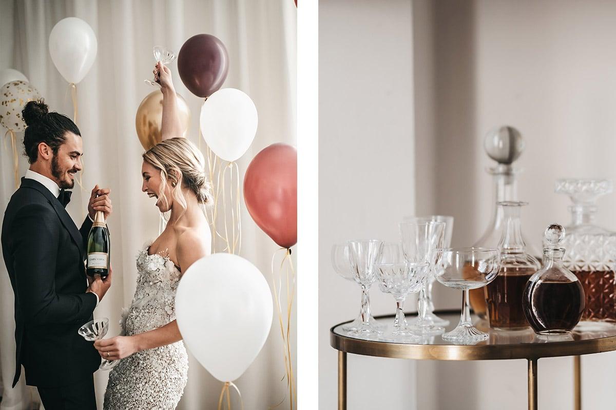 feest vieren op huwelijk