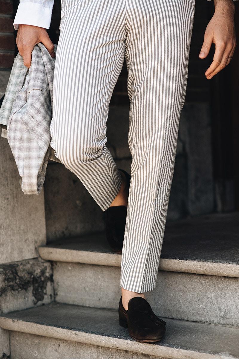 pantalon met loafers