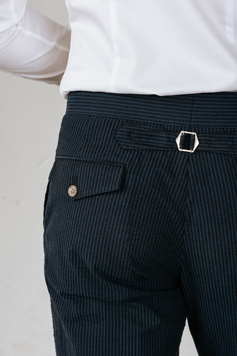 zomer pantalon donker gestreept