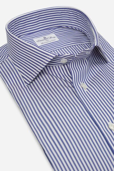 gestreept blauw overhemd