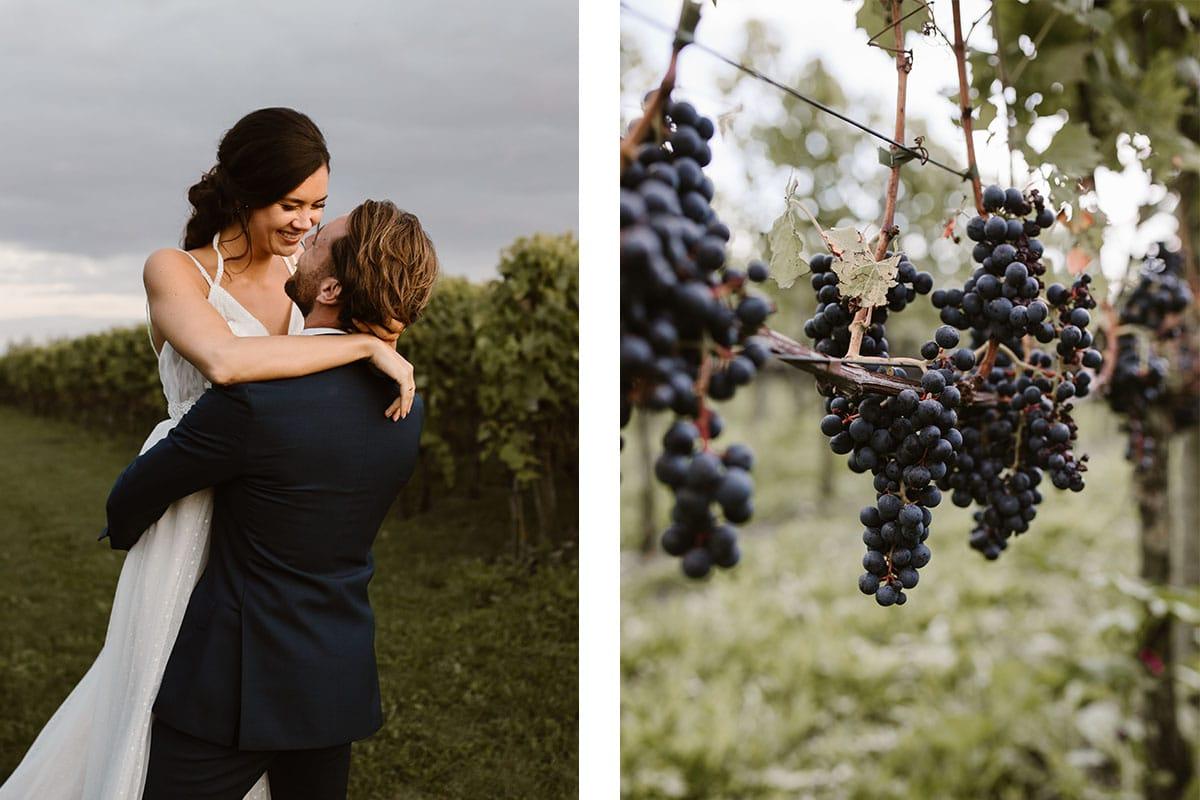 koppel in de wijngaard