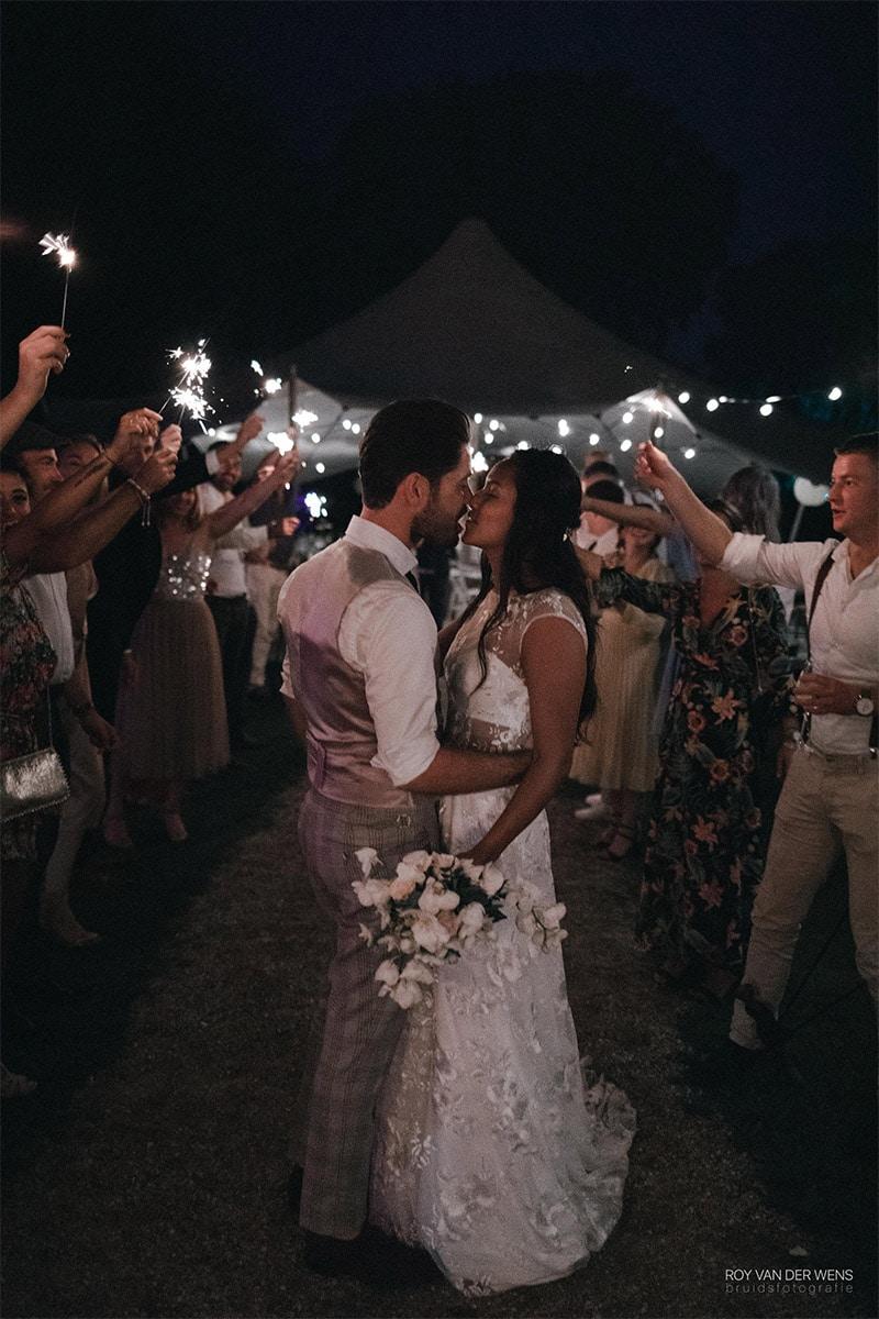 sterretjes op bruiloft
