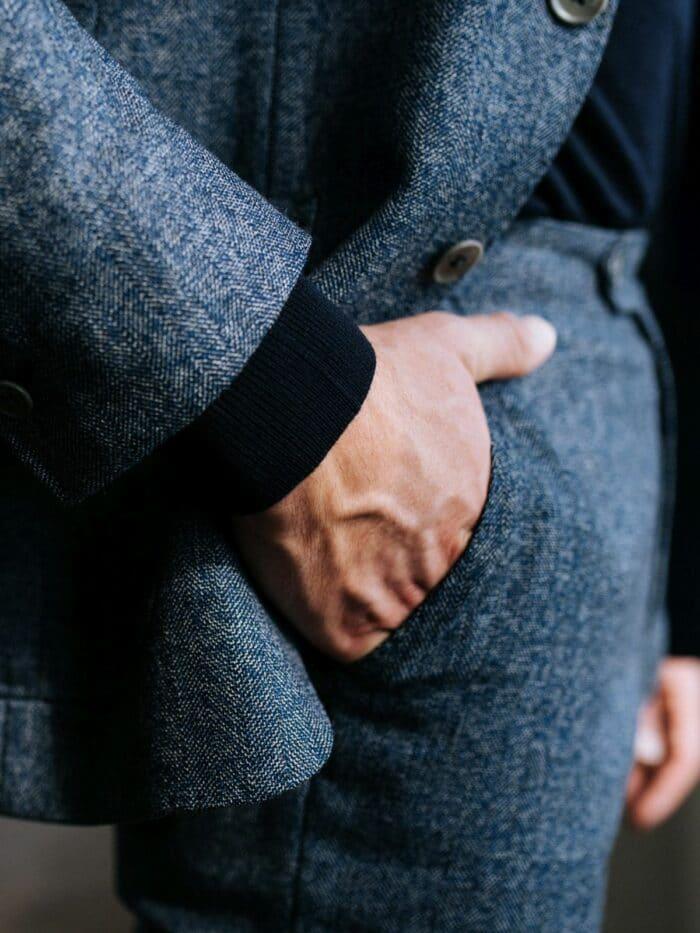 donkerblauw pak op maat