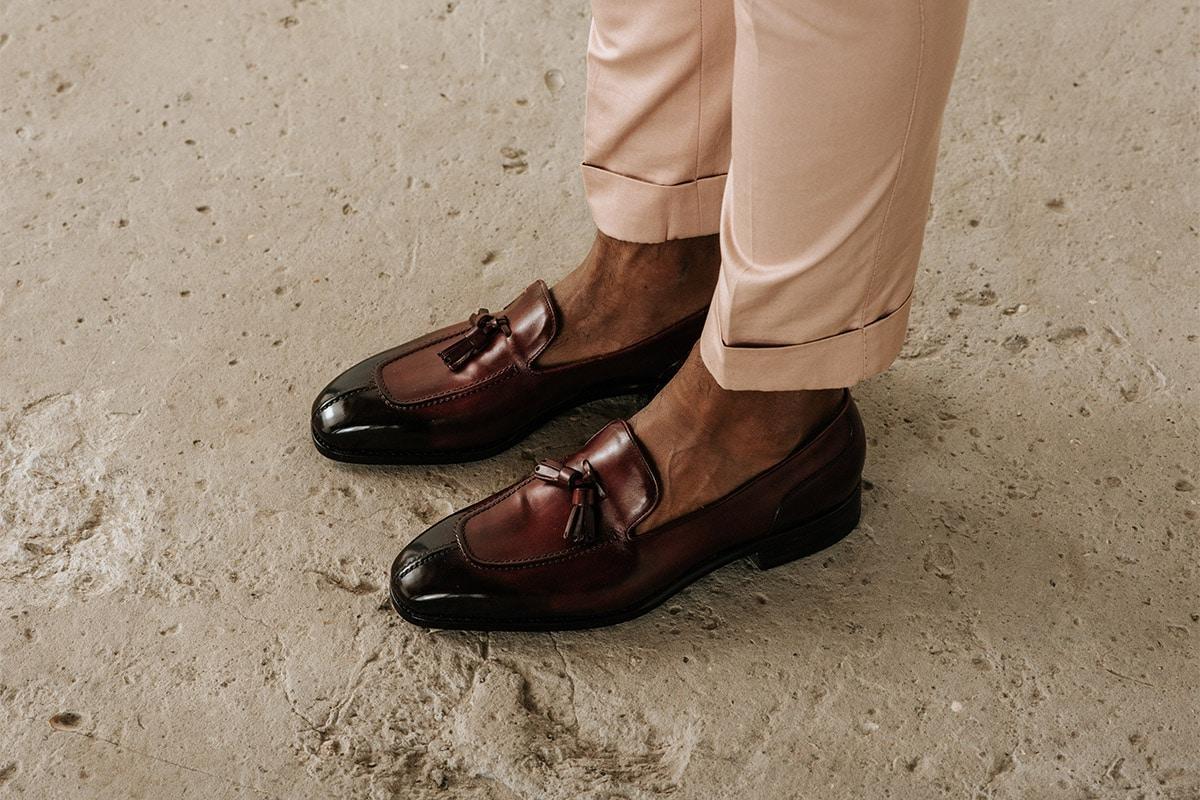 loafers onder trouwpak