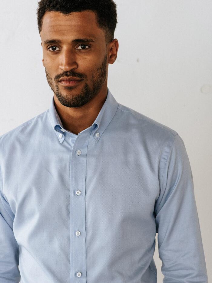 button down shirt lichtblauw