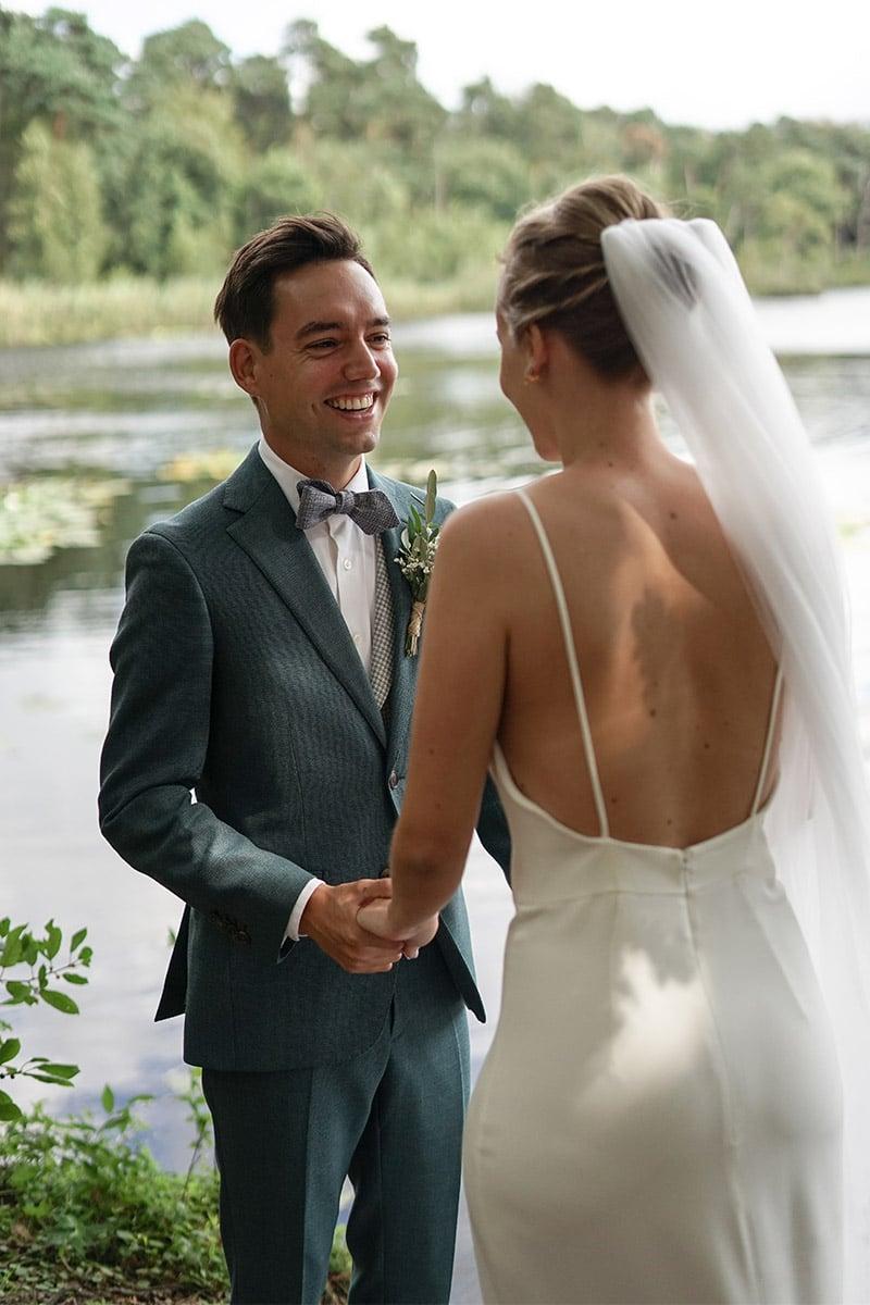 bruiloft aan het meer