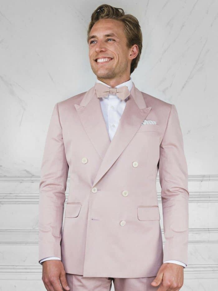 pastel roze katoenen pak