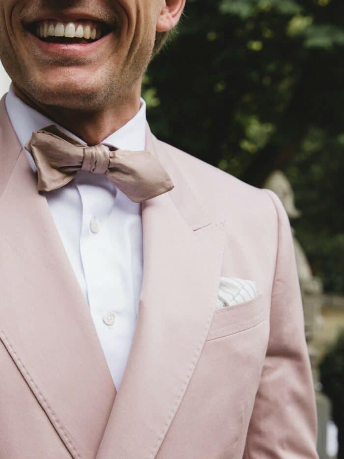 pastel roze vlinderstrik
