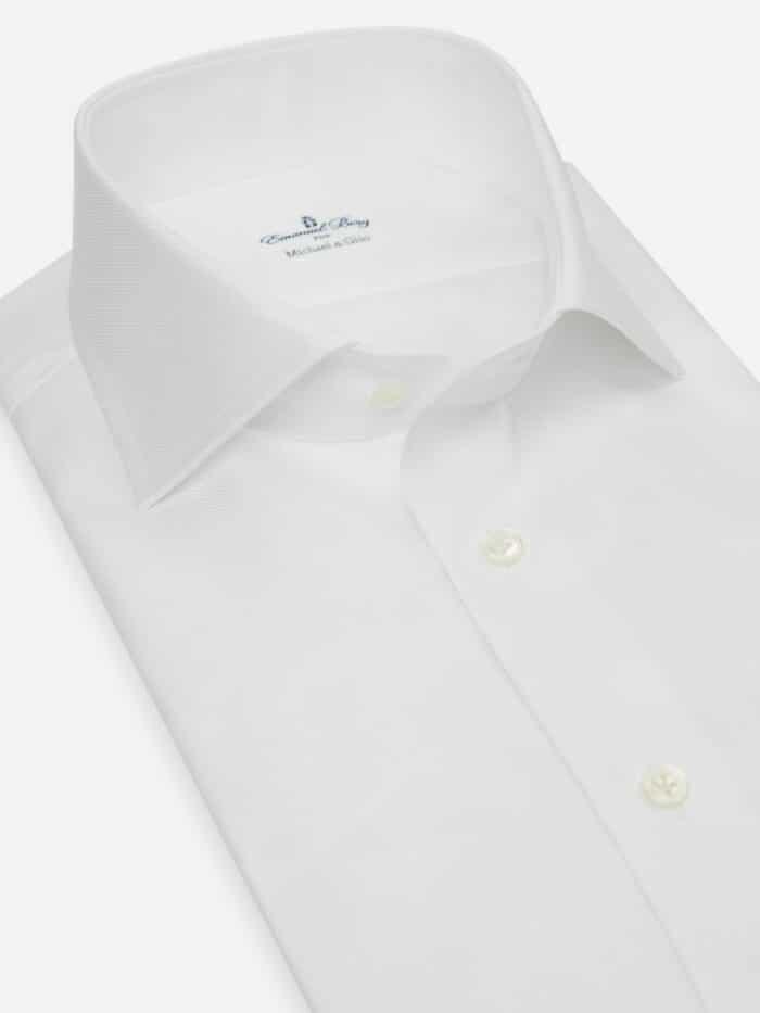 wit katoenen shirt op maat