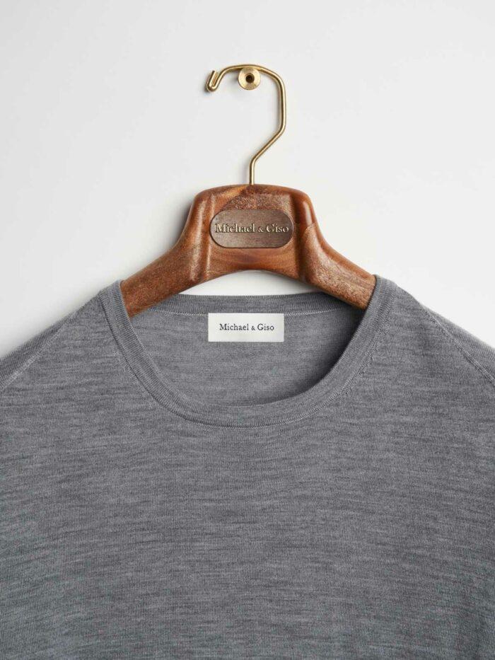 grijs kleurige trui ronde hals