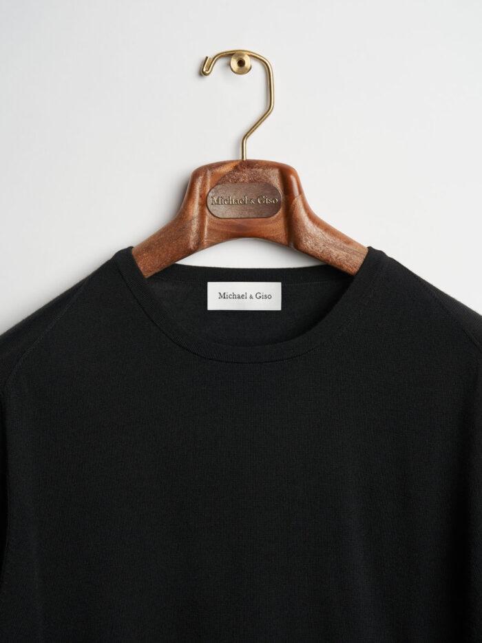zwart knitwear ronde hals