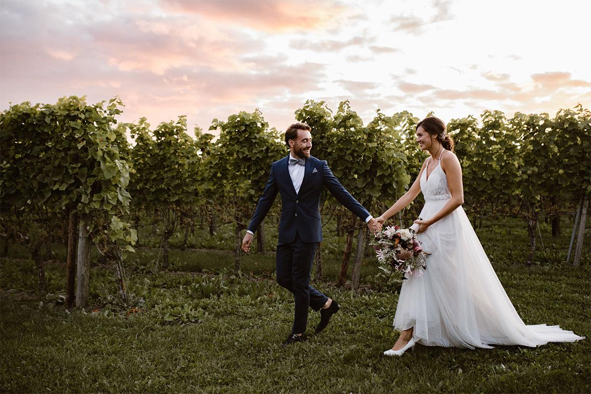 zonsondergang bruiloft