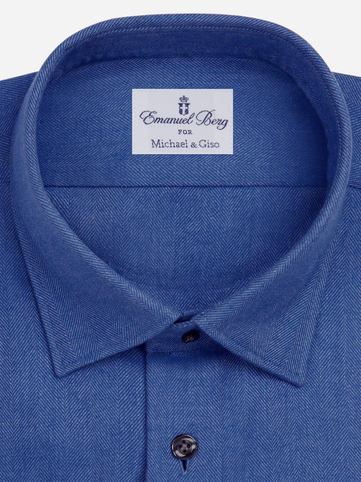 kobal blauw shirt op maat