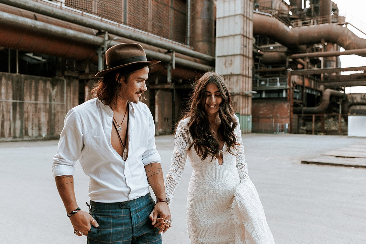 vintage bruiloft