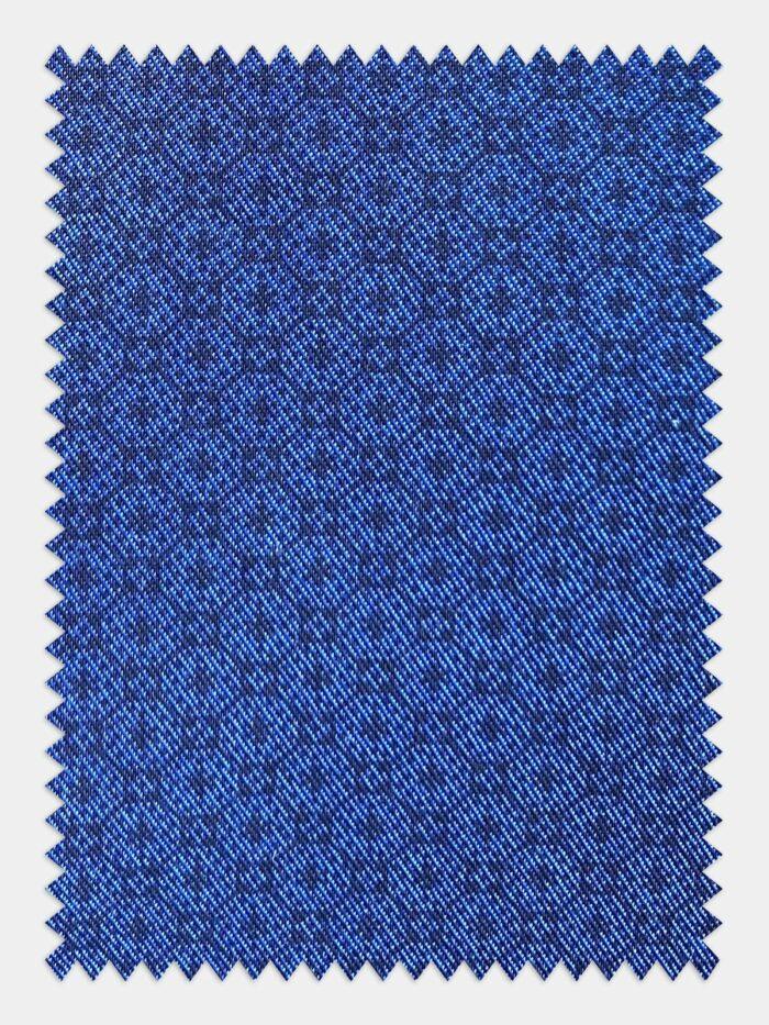 stolstaaltje patroon blauw