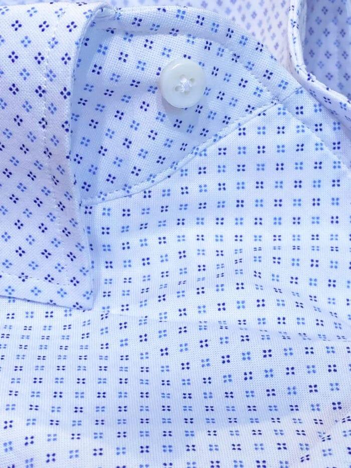 cut away kraag print overhemd