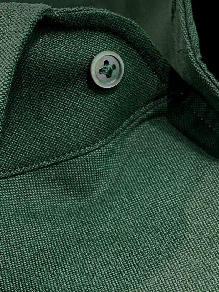 donkergroene boord shirt op maat