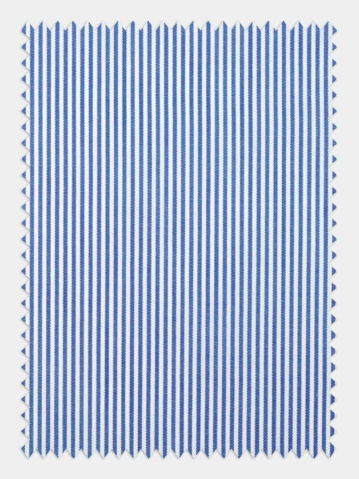 blauw wit streep stof