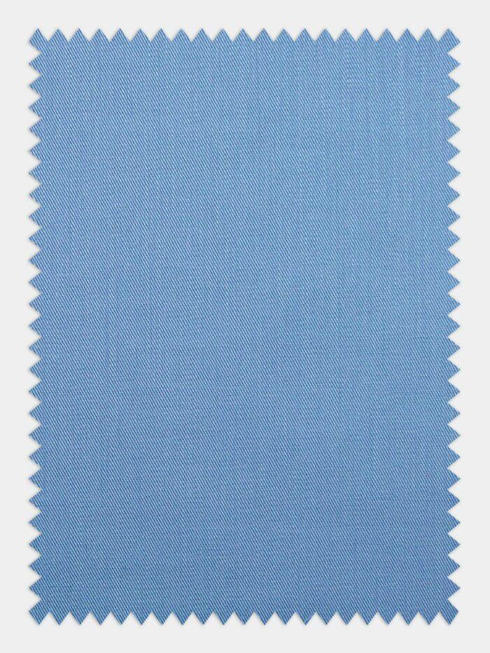 medium blauw twill stof