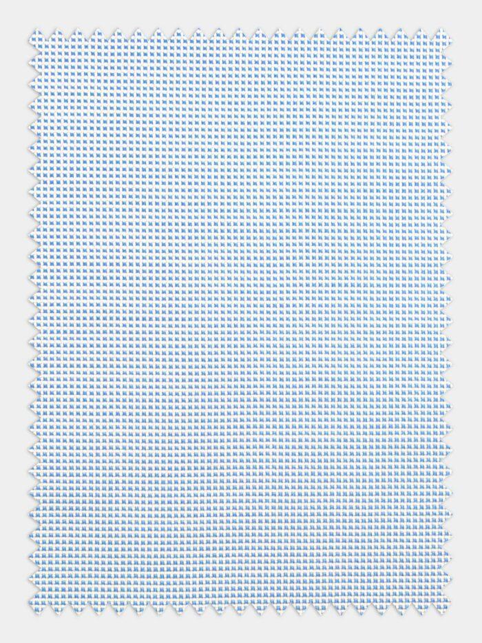 licht blauw wit geruit print stof