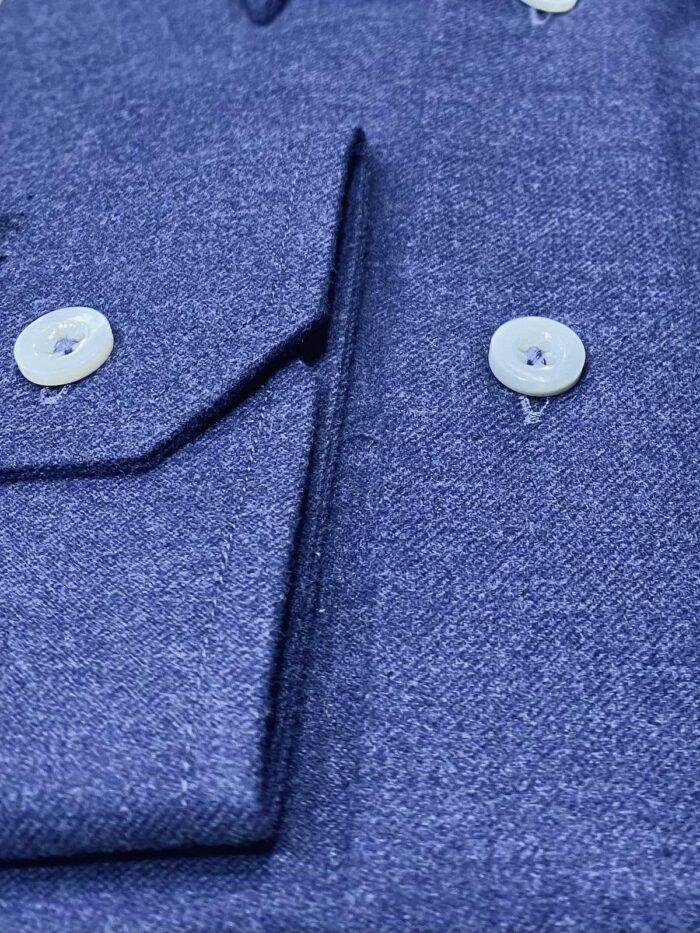 Blauw Flannel shirt detail foto
