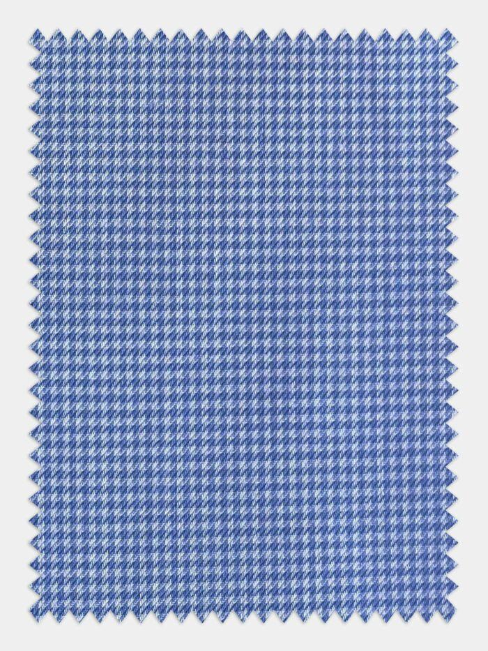 pied de poule lichtblauw stof
