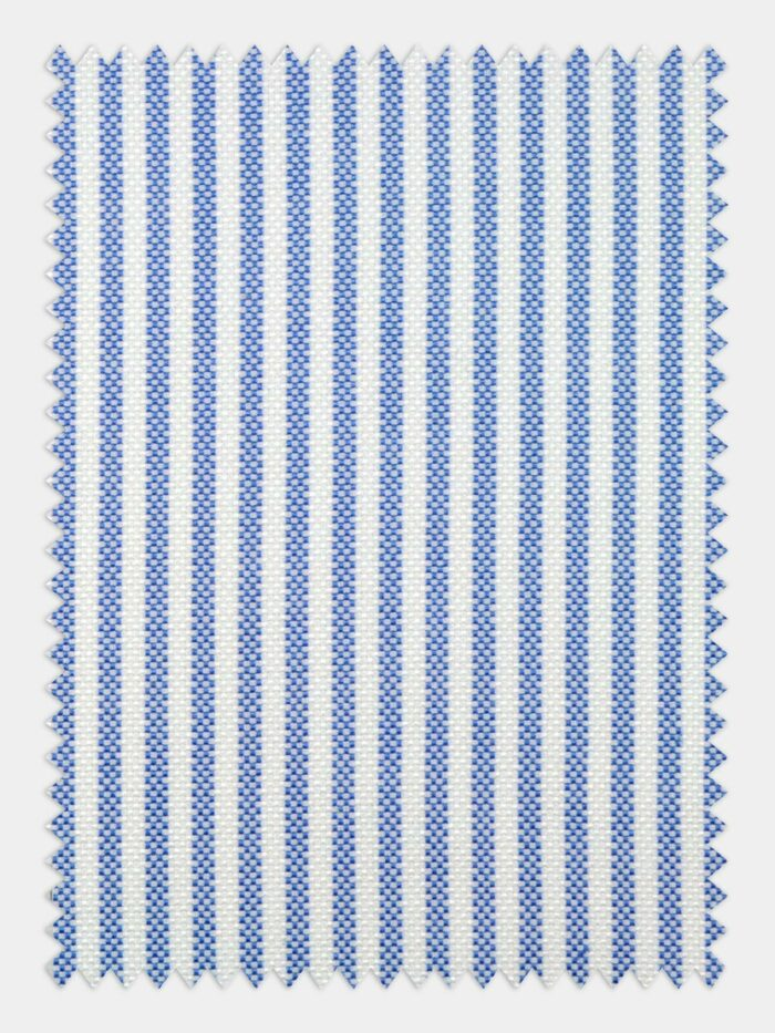 katoen flannel vlauw wit streep